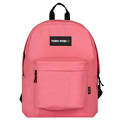"FOCHIER F Fochier Unisex Classic Everyday School Laptop Daypack Backpack para Portátil DE 14""-15.6"",Naranja"