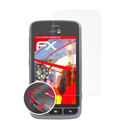 atFolix Schutzfolie kompatibel mit Doro Liberto 820 Mini Folie, entspiegelnde & Flexible FX Bildschirmschutzfolie (3X)