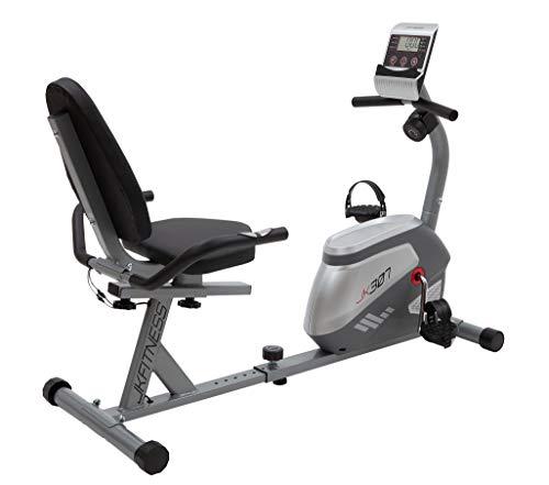 JK FITNESS - Cyclette Recumbent Orizzontale JK307 - Volano 7 kg - Portata max 115 kg