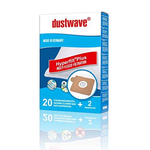 20 Staubsaugerbeutel | Filtertüten | Staubfilter passend für AquaPur - AE 600 - dustwave® Markenstaubbeutel/Made in Germany + inkl. 2 Microfilter (Megapack)