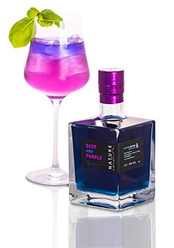 Jetzt NEU: HERZOG Gin DEEP and PURPLE NATURE Edition   0,5 L   14 Botanicals   40% Alkoholgehalt