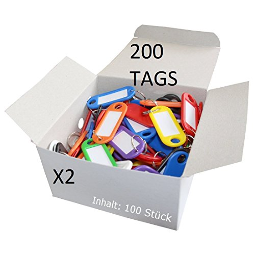 CKC Porte-clés en plastique coloré, 200 PCS