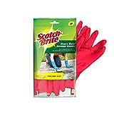 Scotch-Brite Heavy Duty Gloves (with Fresh lemon scent & inner cotton lining for comfort) Medium,...