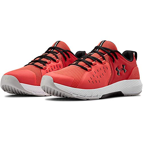 Under Armour Men's Charged Commit 2.0 Cross Trainer, Rush Red (600)/Black, 9