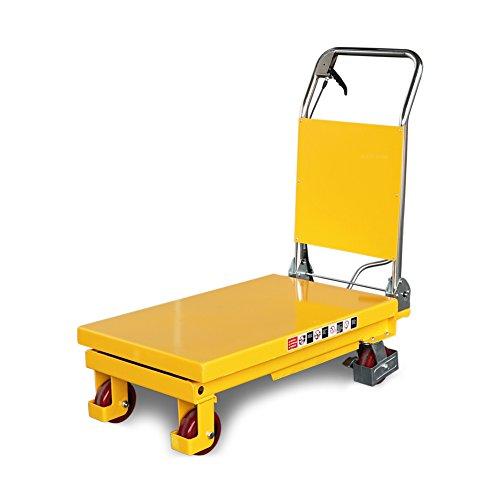 Fahrbarer Hubtisch 150 kg, 750 mm Hubhöhe, 740 x 450 mm Plattform