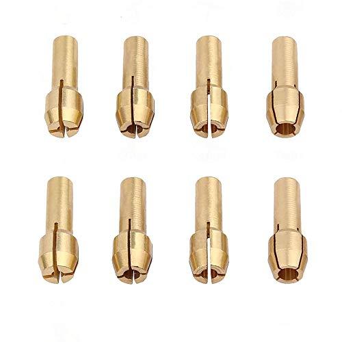 Brass Collet Set - Luo ke 8 Pieces Brass Collet Brass Chuck Fits...