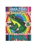 amazing frog coloring book: frog coloring book for kids 4-8 amazig frog
