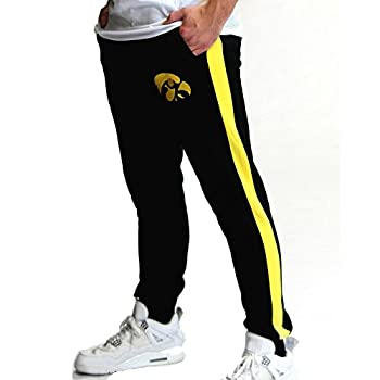 Twin Vision Activewear Iowa Hawkeyes NCAA Men s Fleece Jogger Pant  Small  Black