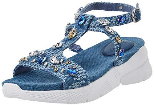 Desigual Shoes_YUNIKER_Denim, Beach. Mujer, Blue, 38 EU