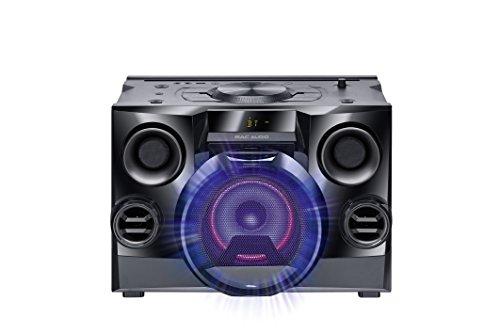 Mac Audio MMC 800   High Power Sound System mit Bluetooth, USB, CD-Player und FM-Tuner   Integrierter DJ Modus, Party Mode Ausgang - Schwarz