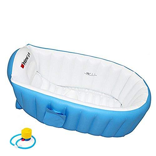 Aufblasbare Baby Badewanne Kinder Schwimmbad Jungen Air Bäder Summer Schwimmbecken Anti-Rutsch Pool faltbar für unterwegs dick Baby Schwimmbecken Badewannensitz Stuhl (für 0-3 Jahre)