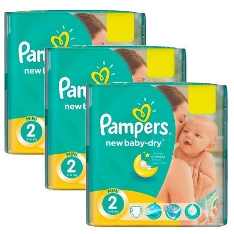 Couches Pampers - Taille 2 new baby dry - 160 couches bébé