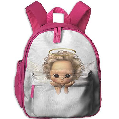 AOOEDM Kinderrucksack Netter süßer Engel Gedruckte Schultasche Cartoon Reisetasche für Mädchen Jungen