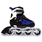 Adjustable 90mm PU wheels Rollerblades (4M - 6M / 5W - 7W) for Kids Women Men Adult Boys Girls-Inline Roller Skate. Fitness Performance Inline Blades Skates. Patines/Rollers para Hombre o Mujer