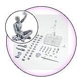 AMhomely 1 Satz Action Figure Modell, männlich/weiblich Action Figure Set Körper PVC-Puppe mit...