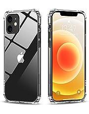 Babacom Funda Compatible con iPhone 12 y 12 Pro (6.1 Pulgada), Carcasa Protectora Anti Choques con PC Duro Panel Posterior y Marco de TPU Suave, Transparente