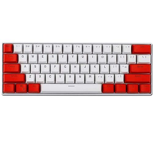 Keycaps, 61 PBT Keycaps Backlight Mechanische Tastatur Tastenkappe ANSI Layout Keyset für Ducky Keboard/ GH60 / RK61 / ALT62 / Annie/Keyboard Poker Keys Tastenkappen