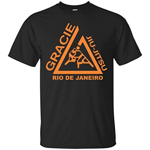 Hombres Gracie Jiu Jitsu Juijitsu Camiseta de Cuello Redondo Manga Corta 5XL