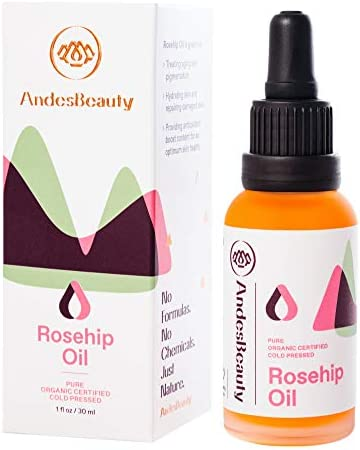 AndesBeauty Rosehip Oil 1 fl oz Pure Certified Organic Rosehip Seed Oil All Natural Unrefined product image
