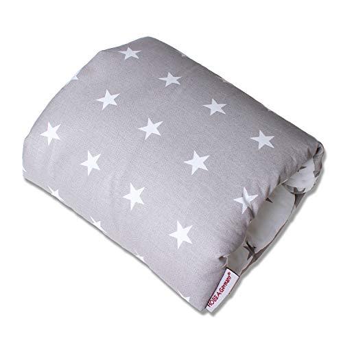 Stillkissen mini kleines Stillkissen Stillmuff in verschiedenen Designs von HOBEA-Germany (grau mit weißen Sternen)