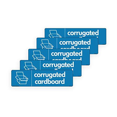 WRAP - Cartel corrugado reciclaje caja corrugada signos
