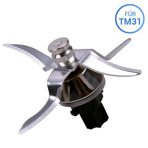 Messer Mixmesser mit 4 Klingen für Vorwerk Thermomix TM31 TM 31 Küchenmaschine inkl Dichtung Ultrascharf Edelstahl Thermomix Zubehör/Ersatzteile