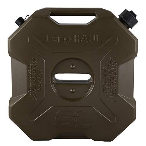 Ejército 6L Verde Coches Y Motos De Repuesto Gasolina del Tanque De Combustible del Tanque De Plástico Puede Prescindir De Plástico Barril del Tanque De Combustible XBQYT (Color : Army Green)