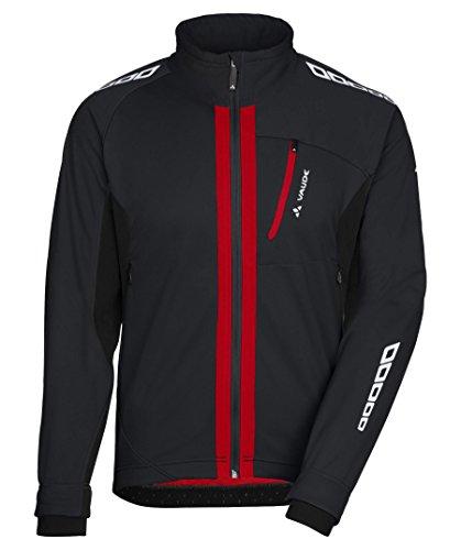 VAUDE Herren Radsport Softshelljacke Kuro II, 05273, Gr. L (Herstellergröße: 52), Schwarz