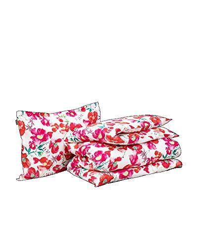 GANT Blooming Bettwäsche-Set Rot Größe 135x200+80x80 + Größe 80x80cm Blumen Flowers