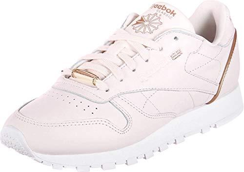 Reebok Damen Classic Leather Hardware Gymnastikschuhe, Pink (Pale Pinkwhiterose Gold), 37.5 EU