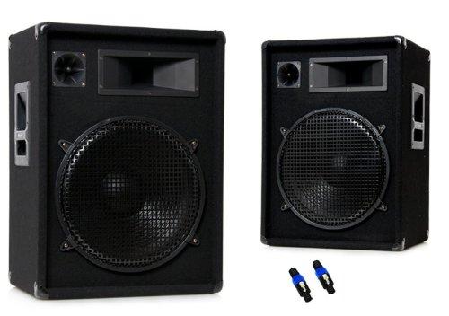 Omnitronic DX-1522 (Paar) 2x 800 Watt + PA-Stecker