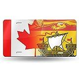 "flag of new brunswick canada art metal license plate vanity car plate 6"" x 12"""