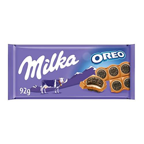 Milka Cioccolato al Latte con Biscotti Oreo al Gusto di Vaniglia, 92g
