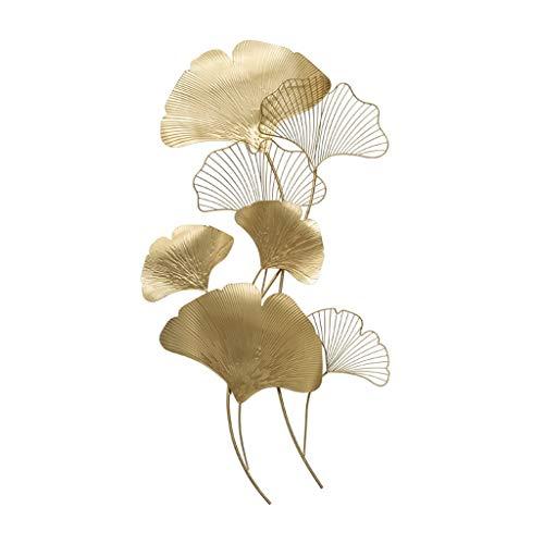 Desktop-Skulptur Pflanzenskulptur Chinesische Schmiedeeisen Anhänger Wanddekoration Wohnzimmer Metall Ginkgo Blatt Große 92 * 48,5 cm (Size : A)