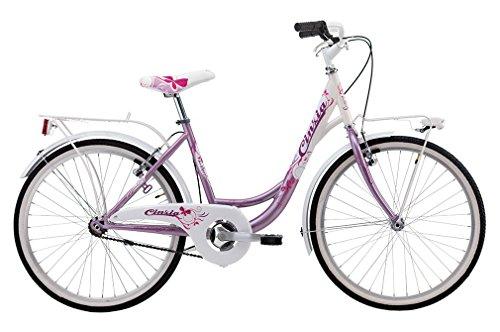 CINZIA Bicicleta para niña Liberty de 20 pulgadas sin cambio fucsia blanco