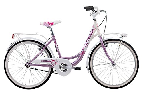 CINZIA Bici Bicicletta Bambina Liberty 20'' Senza Cambio Fuxia Bianco