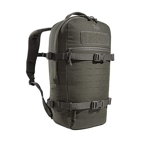Tasmanian Tiger TT Modular Daypack L Molle-kompatibler, Ergonomischer Tages-Rucksack mit Kompressionsriemen, 18 Liter Volumen (Steingrau-Oliv IRR)