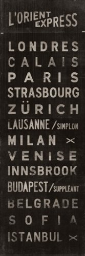 Impressão em pôster L'Orient Express de Luke Stockdale (30 x 91 cm)