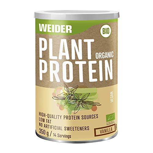 Weider Plant Organic Protein, Vanilla, Organic, Without Artificial sweeteners, 100% Natural, no GMO, 350g