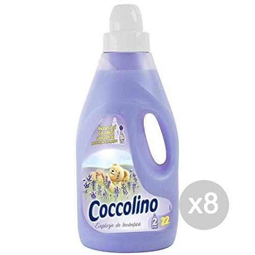 Coccolino Set 8 wasverzachter Lt 2 Fresco lavendel wasmiddel en kou, meerkleurig