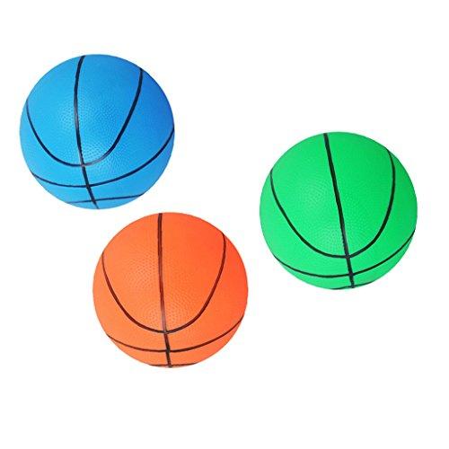 Hellery 3 Piezas de 6 'para Niños, Mini Pelota de Baloncesto Inflable, Juguete de Juego de Pelota Hinchable