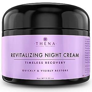 Thena Night Cream Best Anti Aging Wrinkle Face Cream With Vitamin A (Retinol) E & C Hyaluronic Acid Regenerating Collagen For Women & Men