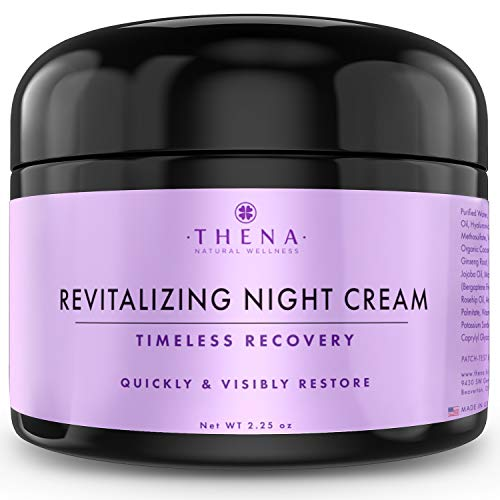 THENA Night Cream Anti Aging Wrinkle Face Cream Natural & Organic Skin Care With Vitamin A (Retinol) E & C Hyaluronic Acid Regenerating Collagen Night Face Moisturizer For Women & Men