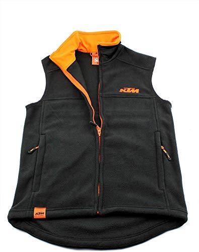 KTM Factory Team Weste schwarz orange + KTM Schlüsselband (XS-XXL), Größe:L