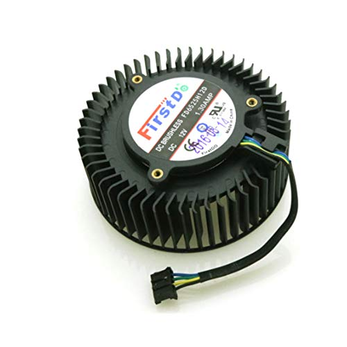 QHXCM for FD6525H12D 65mm 12V 1.3A 4 Pin Video Card Cooler Fan For AMD Radeon R9 270 270X Graphics Card Cooling Fan Cooler