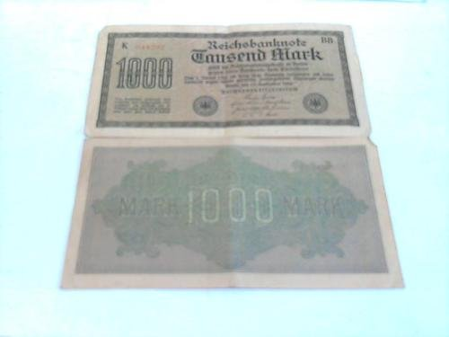 1000 Mark Reichsbanknote 15.9.1922