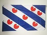 AZ FLAG Flagge Provinz FRYSLÂN 90x60cm - FRYSLÂN IN NIEDERLANDE Fahne 60 x 90 cm Scheide für Mast - flaggen Top Qualität