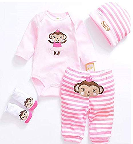 Reborn Baby Doll Clothes for Girl 20-23 Inches Newborn Girl Baby Doll Clothing Sets