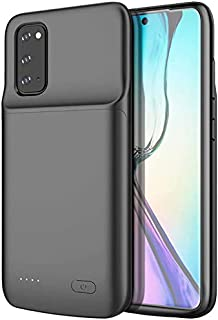 Samsung Galaxy S20 Ultra Battery Case,ShowTop 6000mAh Rechargeable Portable Charger Case Extended Charging Case Protective Backup Power Case for Samsung Galaxy S20 Ultra 6.9 inch Black (S20 Ultra)