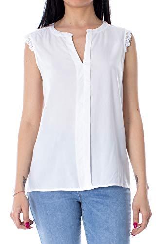 ONLY Damen onlKIMMI S/L WVN NOOS Top, Weiß (White), 42